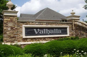 Valhalla Entrance Sign