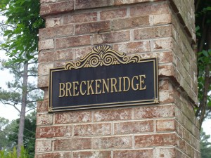 Breckenridge Entrance Sign